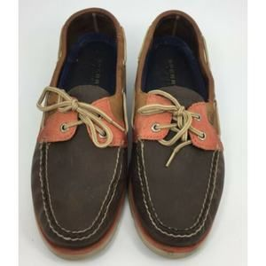 Men's SPERRY Top-Sider Leather Brown/Orange Shoes